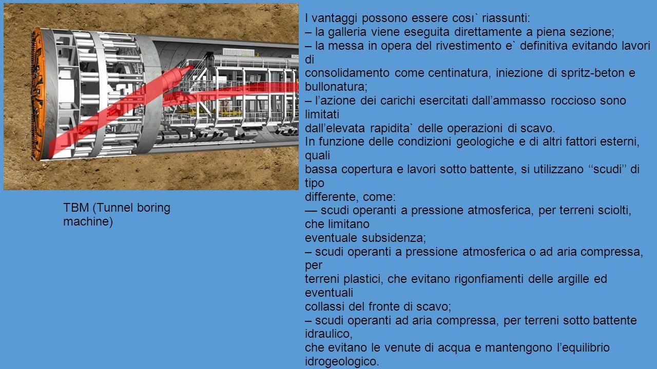MACCHINARI PER SCAVI GENERICI: - Fresa puntuale - Carro di perforazione ''Jumbo'' - Evoluzione delle ''volate'' di mine - Centine metalliche - Pala caricatrice - Dumper