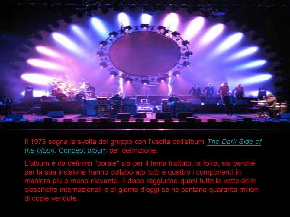 Il 1973 segna la svolta del gruppo con l'uscita dell'album The Dark Side of the Moon. Concept album per definizione,The Dark Side of the MoonConcept a