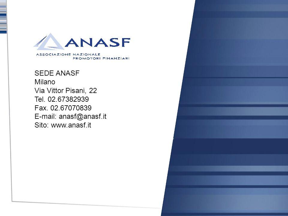 SEDE ANASF Milano Via Vittor Pisani, 22 Tel. 02.67382939 Fax. 02.67070839 E-mail: anasf@anasf.it Sito: www.anasf.it