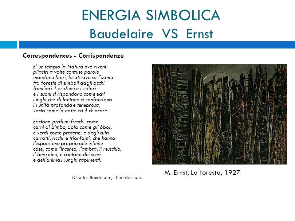 ENERGIA SIMBOLICA Baudelaire VS Ernst Correspondences - Corrispondenze E' un tempio la Natura ove viventi pilastri a volte confuse parole mandano fuor