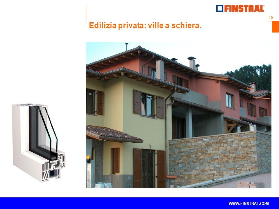 10 www.finstral.com © WWW.FINSTRAL.COM Edilizia privata: ville a schiera.