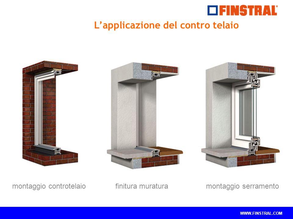 WWW.FINSTRAL.COM montaggio controtelaio finitura muratura montaggio serramento L'applicazione del contro telaio
