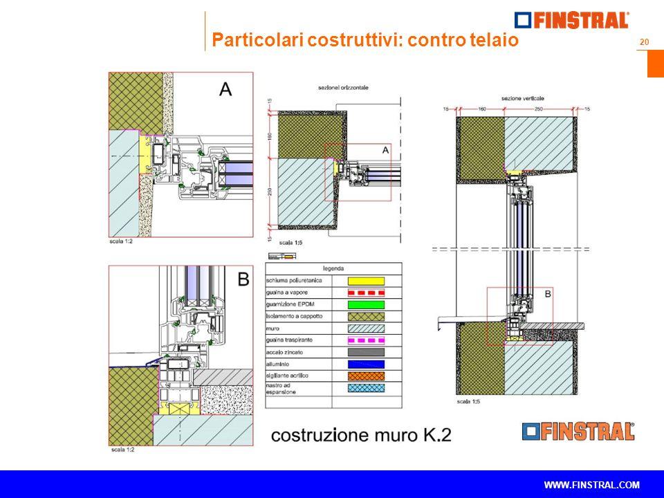 20 www.finstral.com © WWW.FINSTRAL.COM Particolari costruttivi: contro telaio