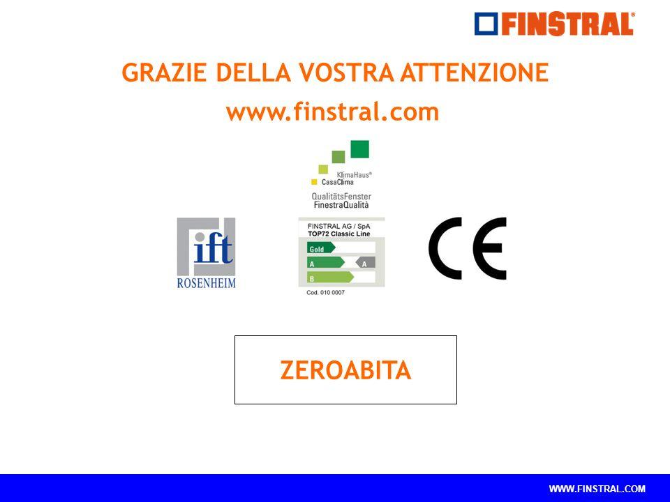 WWW.FINSTRAL.COM GRAZIE DELLA VOSTRA ATTENZIONE www.finstral.com ZEROABITA