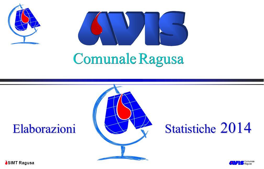 Comunale Ragusa SIMT Ragusa Azienda Sanitaria Provinciale Ragusa SIMT Ragusa Unità consegnate ai reparti 2014