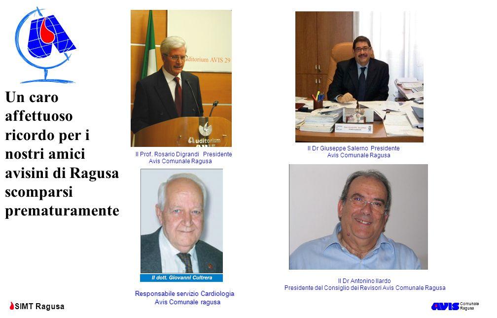 Comunale Ragusa SIMT Ragusa Un caro affettuoso ricordo per i nostri amici avisini di Ragusa scomparsi prematuramente Il Prof. Rosario Digrandi Preside