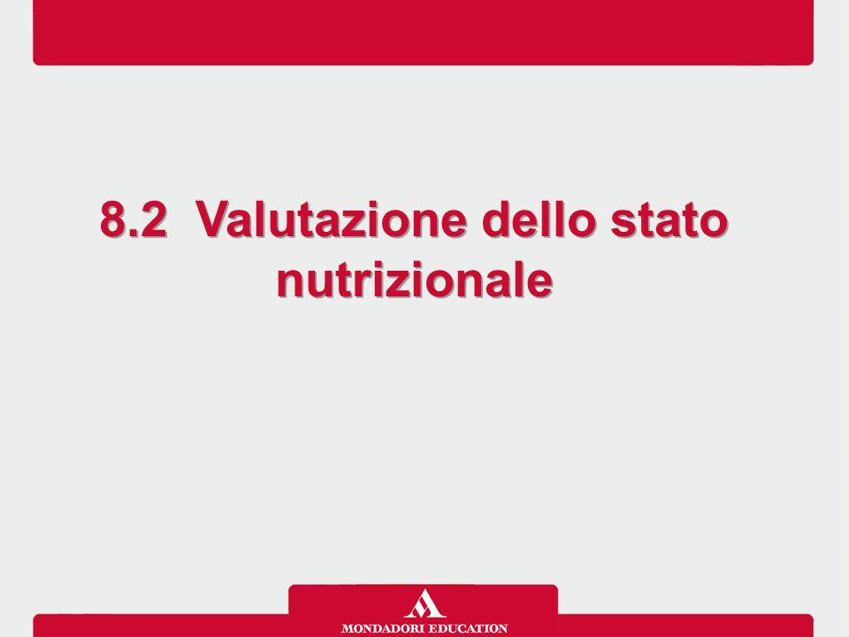 8.2 Valutazione dello stato nutrizionale