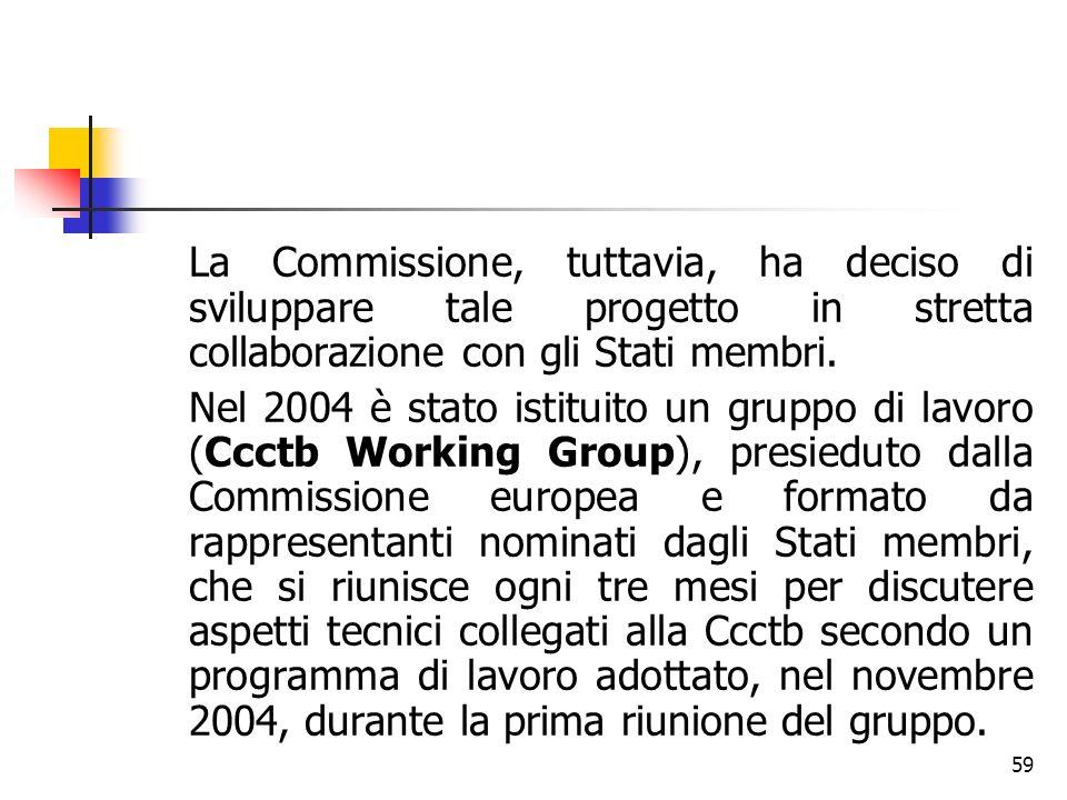 59 La Commissione, tuttavia, ha deciso di sviluppare tale progetto in stretta collaborazione con gli Stati membri. Nel 2004 è stato istituito un grupp