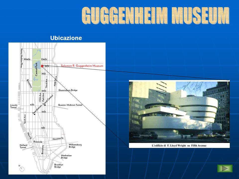 Struttura architettonica Riportiamo qui di seguito alcuni dei progetti di Wright del Guggenheim Museum Sezione sudProspetto nord
