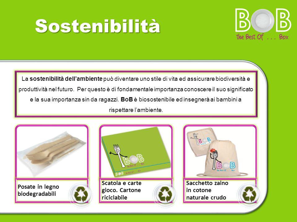 Sostenibilità Posate in legno biodegradabili Scatola e carte gioco. Cartone riciclabile Sacchetto zaino in cotone naturale crudo BoB La sostenibilità