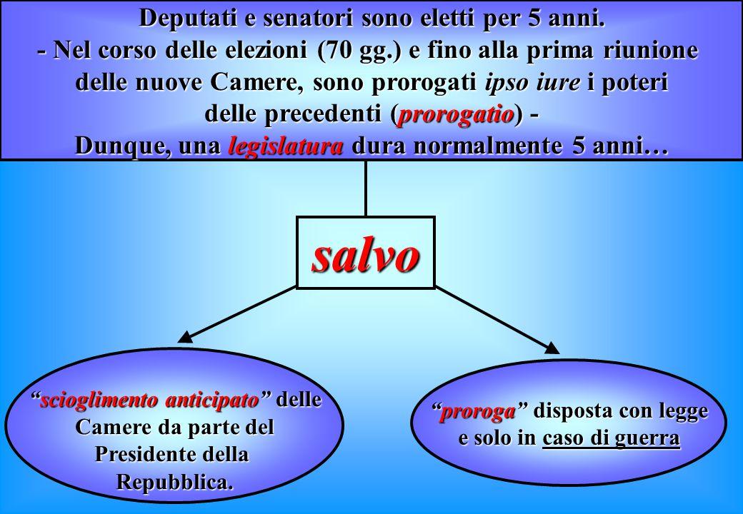 Principio della rappresentanza nazionale I deputati ed i senatori non rappresentano le circoscrizioni ed i collegi elettorali locali che li hanno el