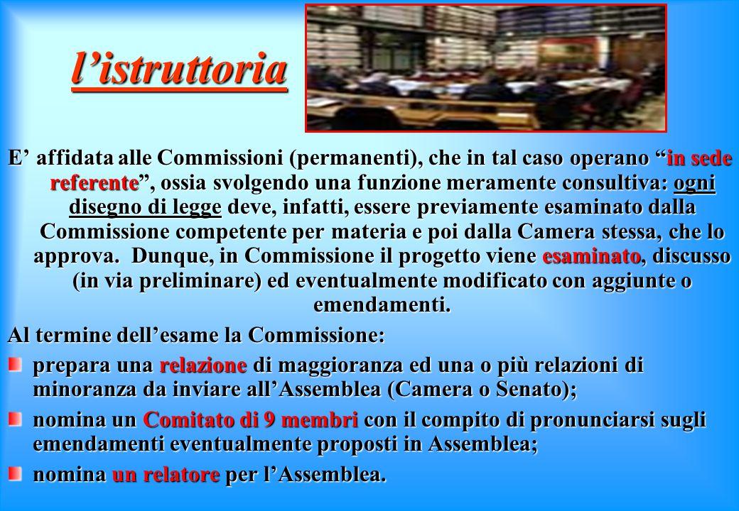 l'iniziativa L'iniziativa legislativa si esercita presentando al Presidente di una delle due Camere (indifferentemente) una proposta di legge. Titolar