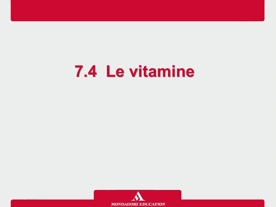 Le vitamine si caratterizzano perché: -sono composti organici di piccole dimensioni -sono presenti negli alimenti in piccole quantità come vitamine vere e proprie, o come precursori di vitamine (provitamine) -sono essenziali per l'organismo (anche se alcune vitamine vengono sintetizzate nell'organismo, in particolare grazie alla flora batterica intestinale, non in quantità sufficiente per coprirne il fabbisogno) -il loro fabbisogno è dell'ordine di mg o μg -regolano il metabolismo  molte vitamine sono coenzimi -non forniscono energia N.B.