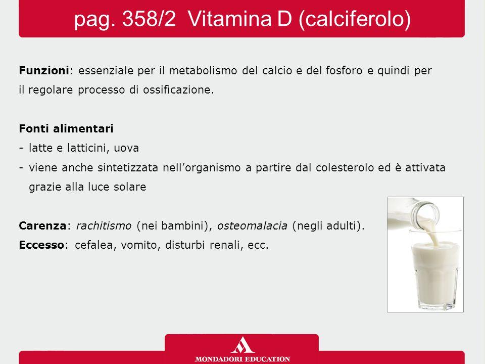 »Vitamina E (tocoferolo) Funzioni - antiossidante  combatte i radicali liberi -serve a mantenere l'integrità delle membrane cellulari Fonti alimentari: oli vegetali e germe di grano, ortaggi a foglia verde.