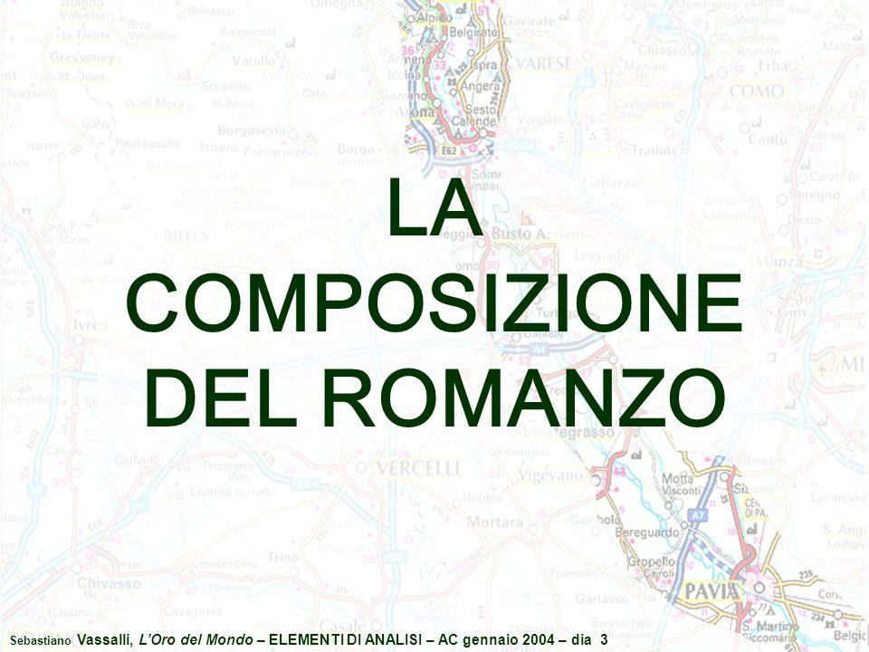 Sebastiano Vassalli, L'Oro del Mondo – ELEMENTI DI ANALISI – AC gennaio 2004 – dia 3 LA COMPOSIZIONE DEL ROMANZO