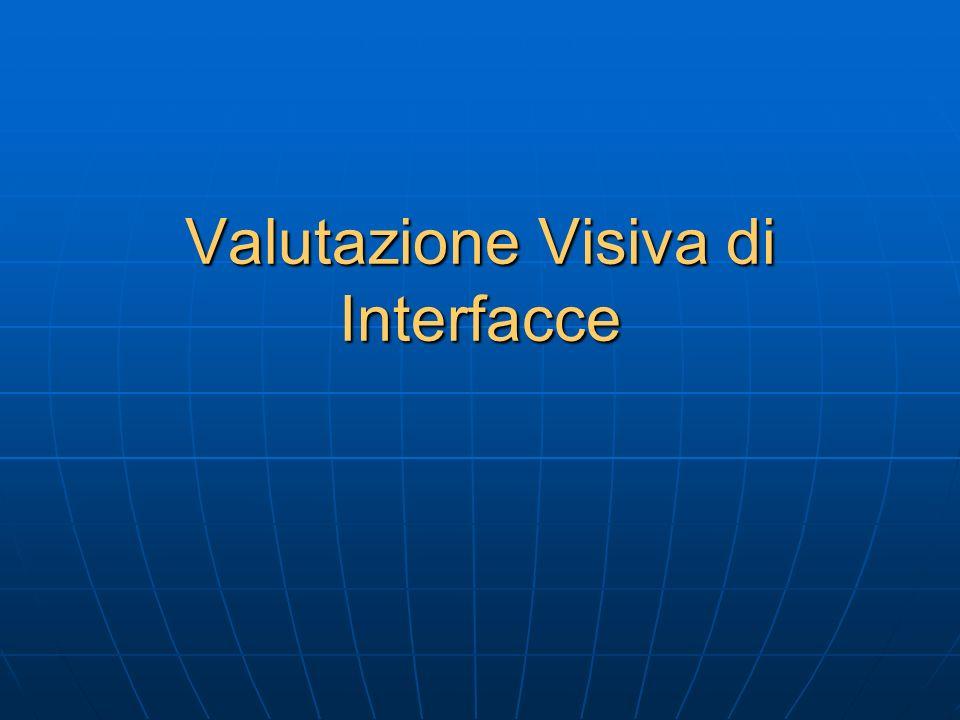 Valutazione Visiva di Interfacce