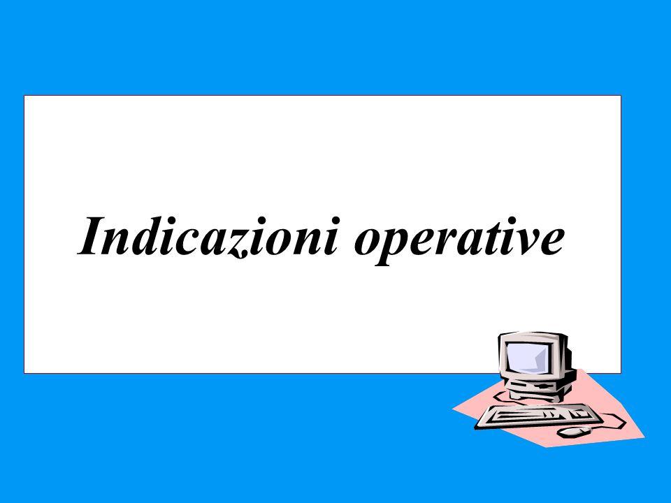 Indicazioni operative