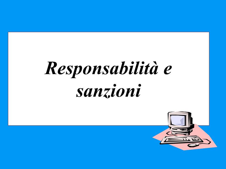 Responsabilità e sanzioni