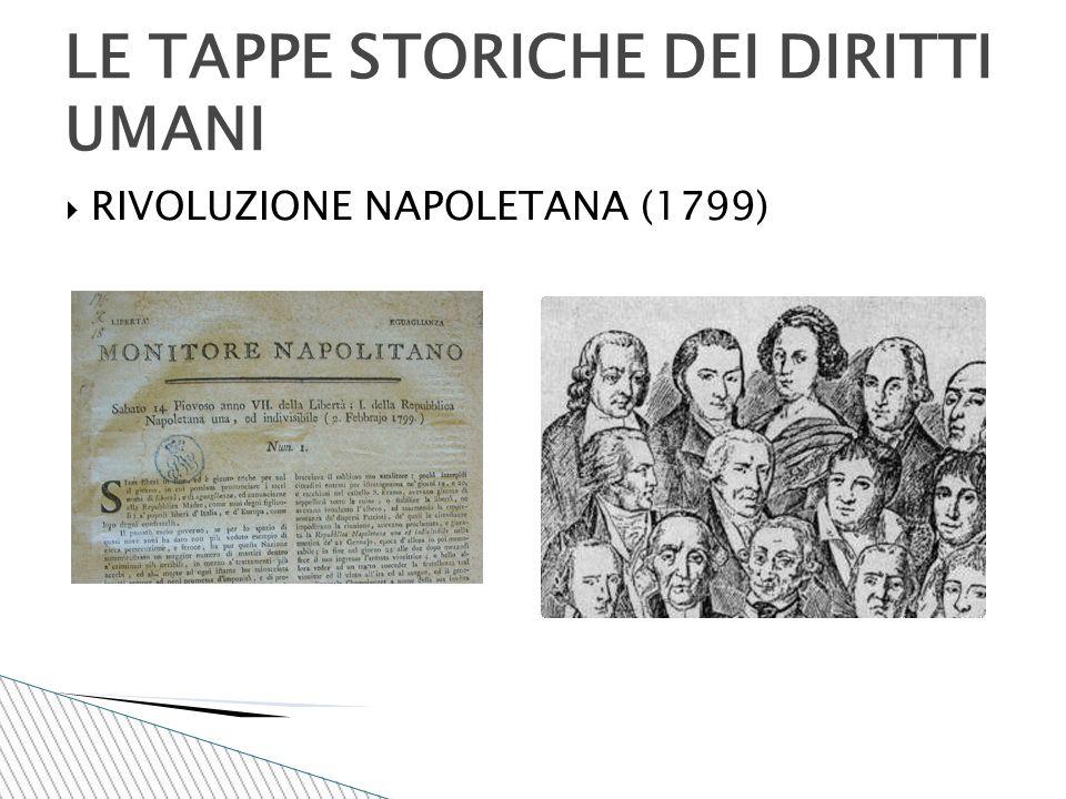  RIVOLUZIONE NAPOLETANA (1799) LE TAPPE STORICHE DEI DIRITTI UMANI