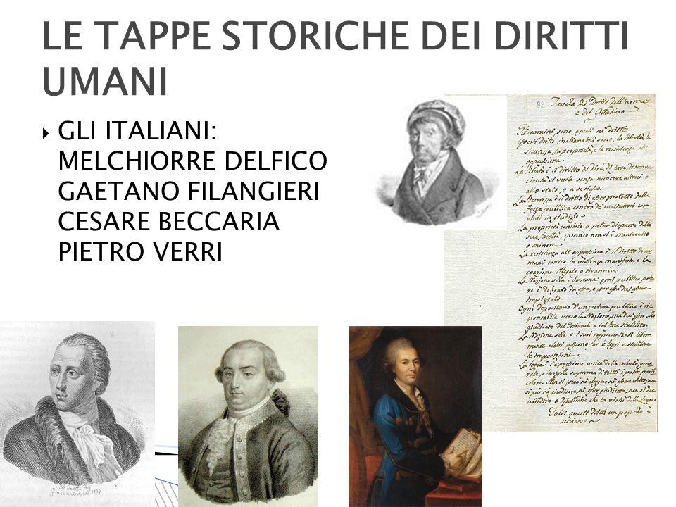  RIVOLUZIONE AMERICANA (1776) LE TAPPE STORICHE DEI DIRITTI UMANI