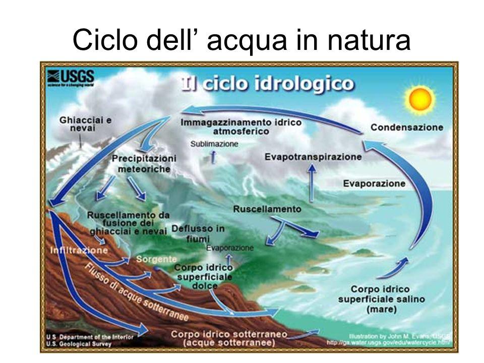 Ciclo dell' acqua in natura