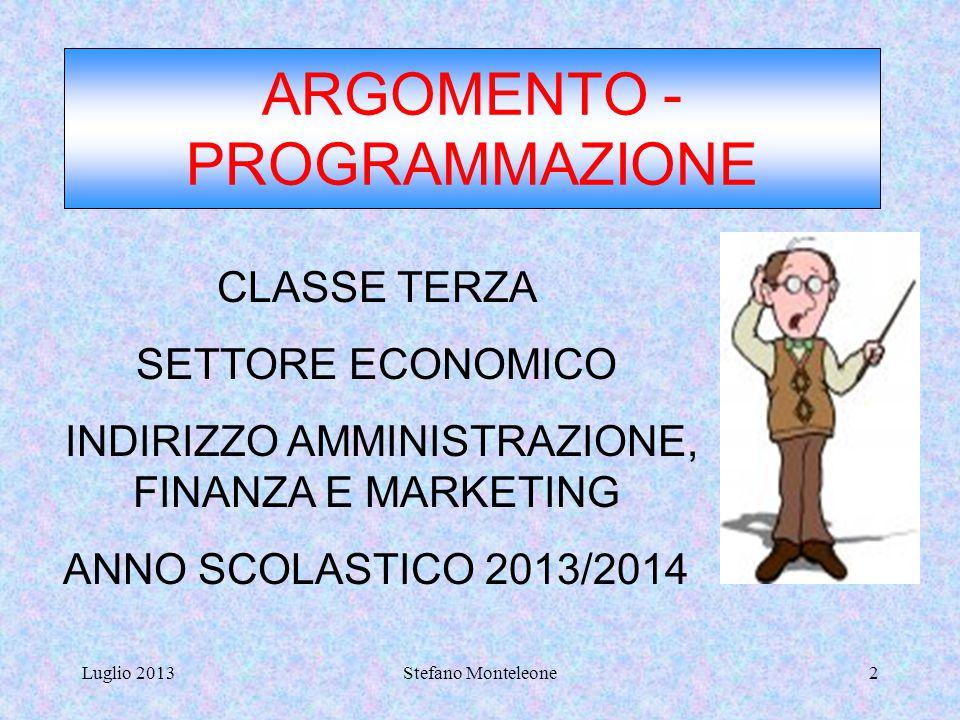 Luglio 2013Stefano Monteleone1