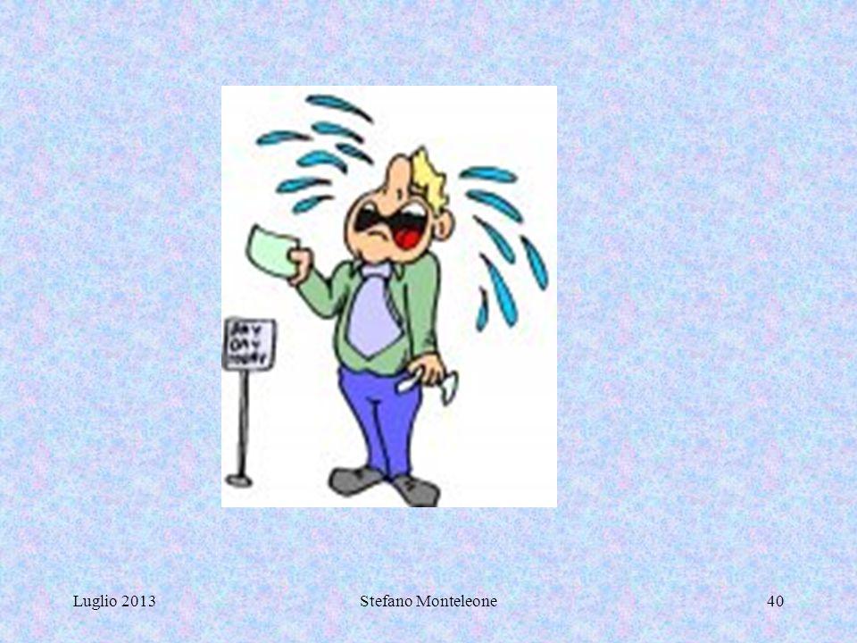 Luglio 2013Stefano Monteleone39 NOTE Rientrano nella più ampia definizione di BES tre grandi sotto-categorie: quella della disabilità; quella dei dist