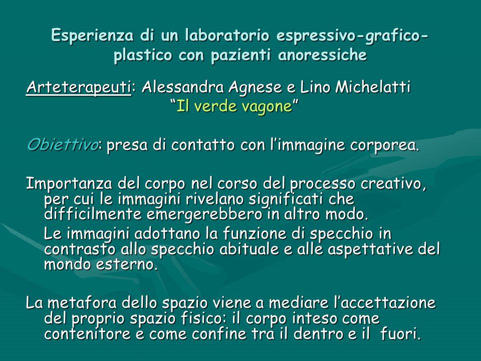 """Esperienza di un laboratorio espressivo-grafico- plastico con pazienti anoressiche Arteterapeuti: Alessandra Agnese e Lino Michelatti """"Il verde vagone"""