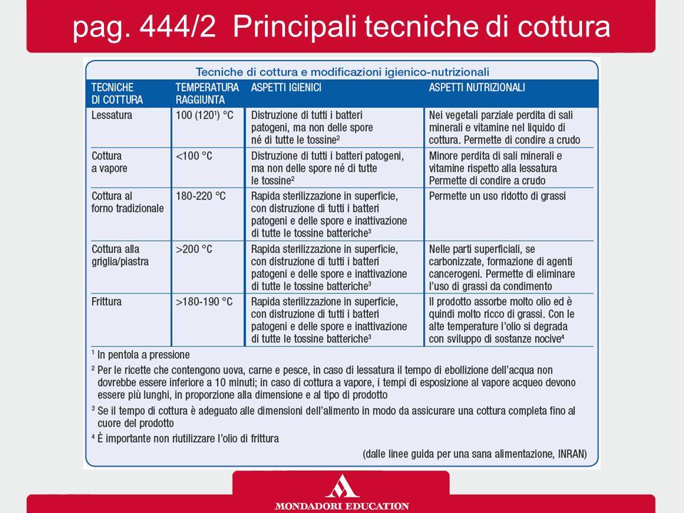 pag. 444/2 Principali tecniche di cottura