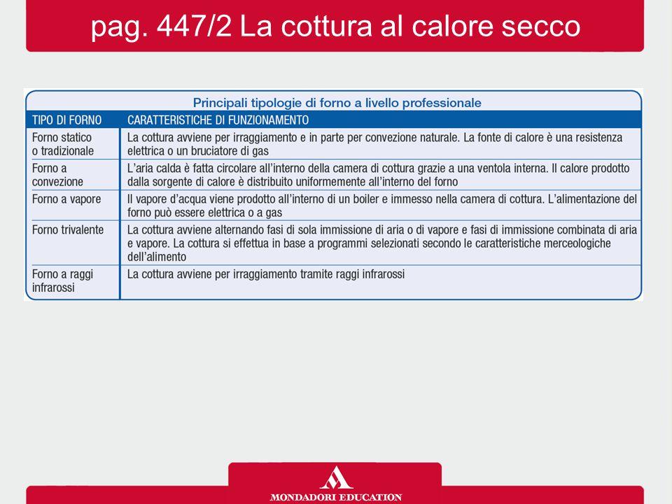 pag. 447/2 La cottura al calore secco