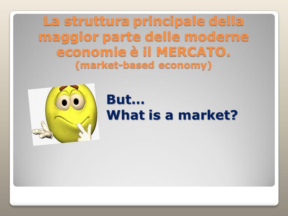 La struttura principale della maggior parte delle moderne economie è il MERCATO.