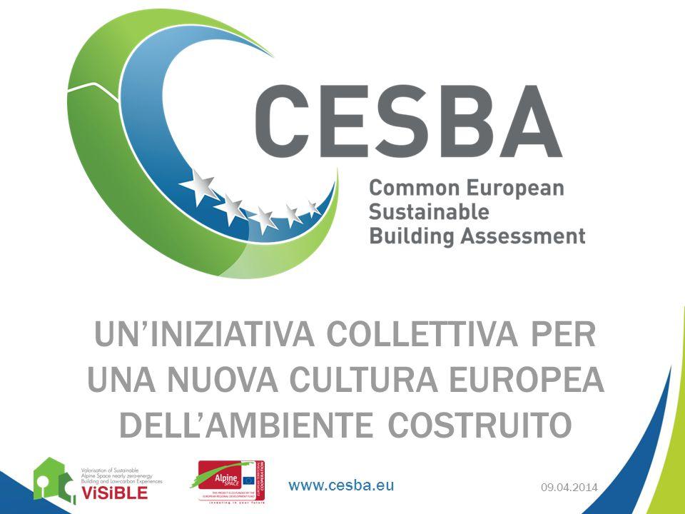 www.cesba.eu UN'INIZIATIVA COLLETTIVA PER UNA NUOVA CULTURA EUROPEA DELL'AMBIENTE COSTRUITO 09.04.2014