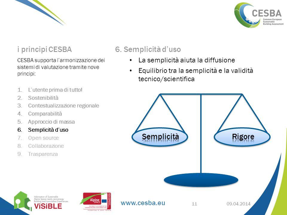 www.cesba.eu i principi CESBA 6.