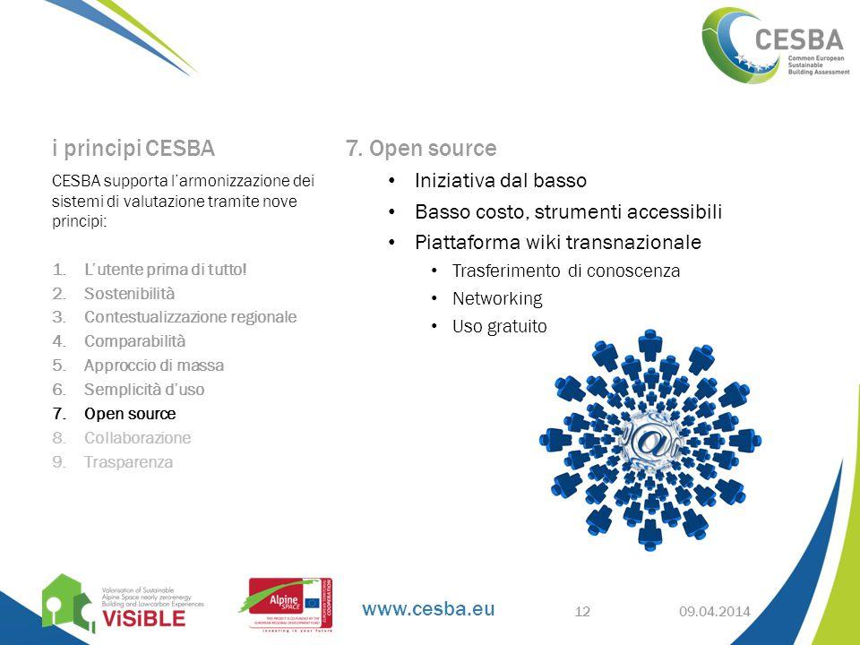www.cesba.eu i principi CESBA 7.