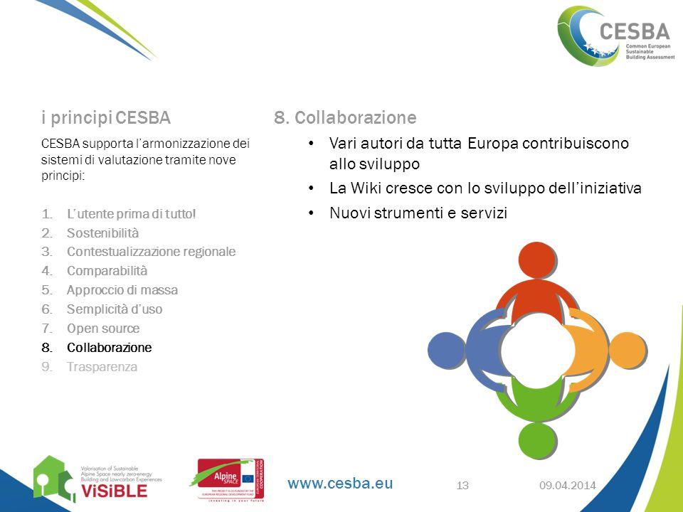 www.cesba.eu i principi CESBA 8.