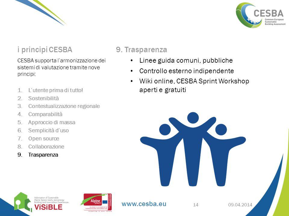 www.cesba.eu i principi CESBA 9.