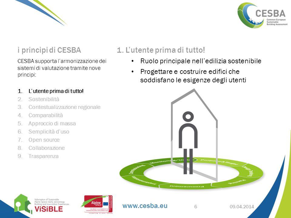 www.cesba.eu i principi di CESBA 1. L'utente prima di tutto.