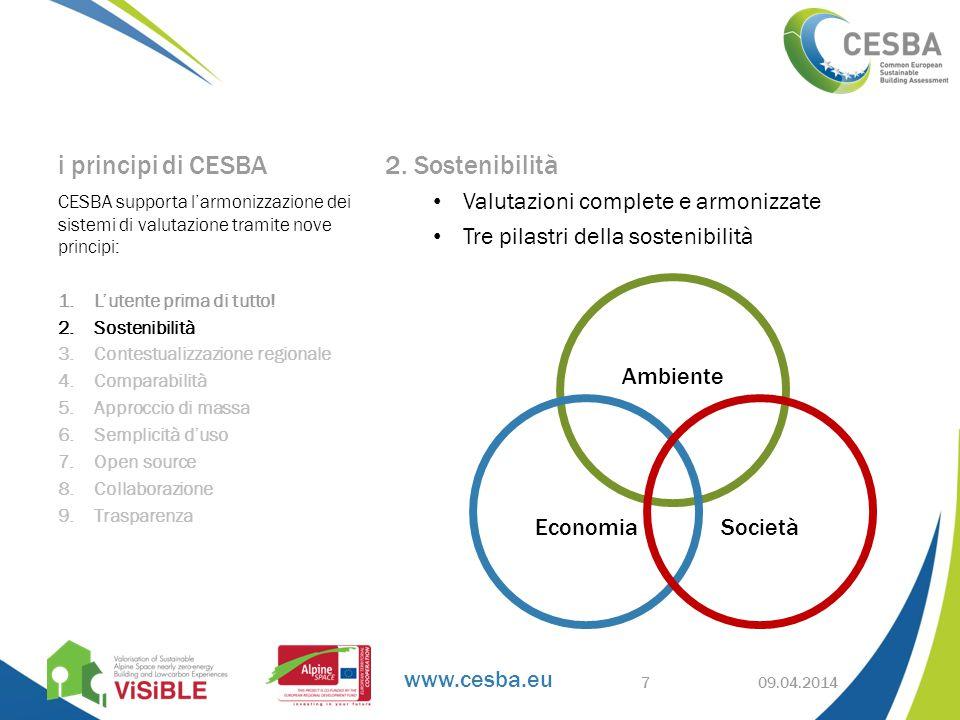 www.cesba.eu i principi di CESBA 2.
