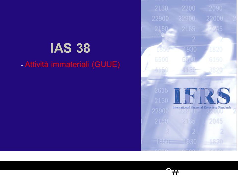 IAS 38 - - Attività immateriali (GUUE) e#e# Adozione dei Principi Contabili Internazionali