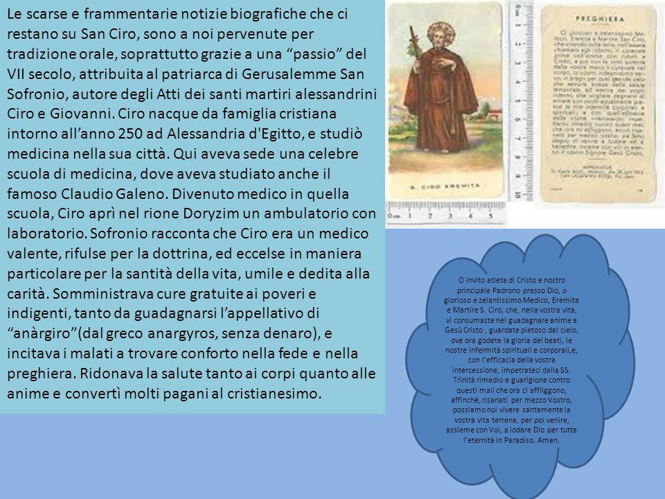 Ciro nacque nel secolo III ad Alessandria d'Egitto.