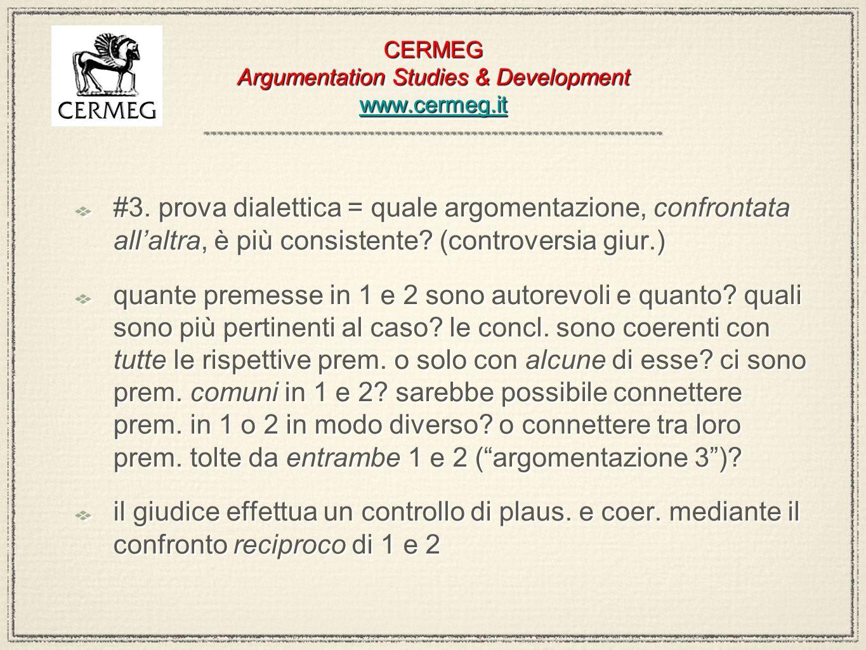 CERMEG Argumentation Studies & Development www.cermeg.it www.cermeg.it CERMEG Argumentation Studies & Development www.cermeg.it www.cermeg.it #4.