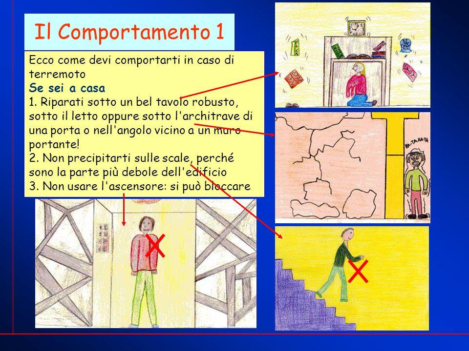 Il Comportamento 1 Ecco come devi comportarti in caso di terremoto Se sei a casa 1.