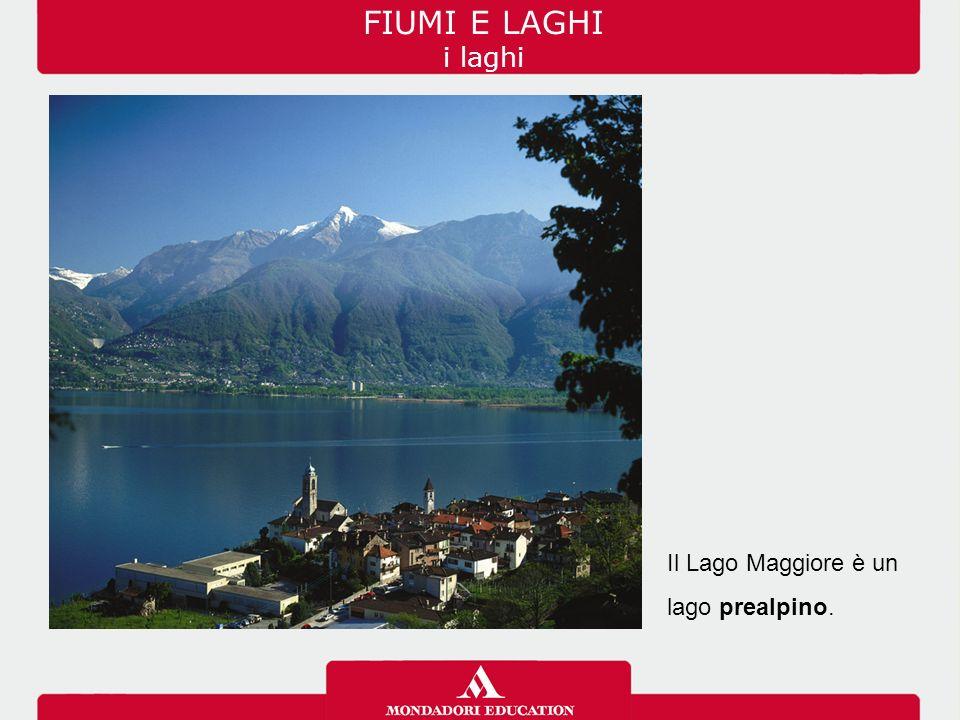 FIUMI E LAGHI i laghi Il Lago Maggiore è un lago prealpino.