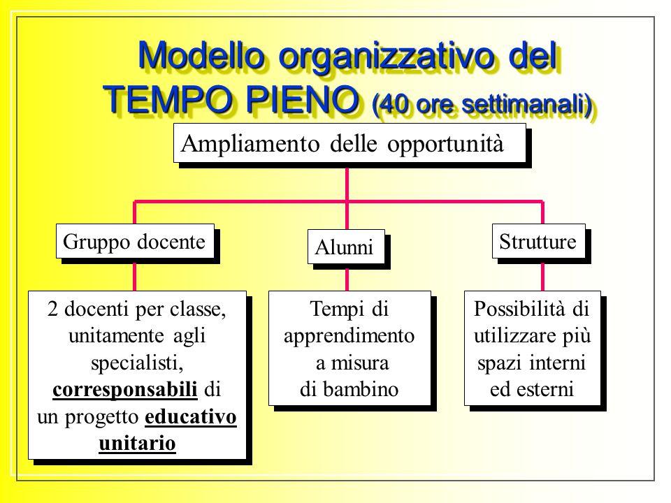 Modello organizzativo previsto dalla Legge di Riforma degli Ordinamenti Scolastici (L.