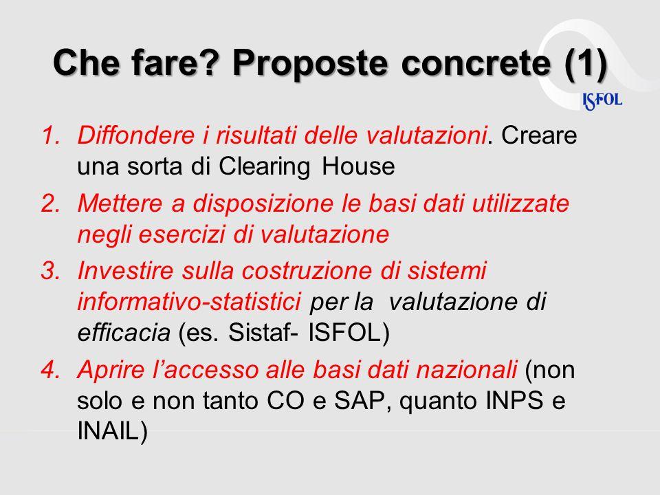 Che fare. Proposte concrete (1) 1.Diffondere i risultati delle valutazioni.