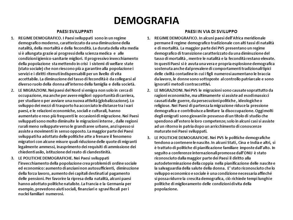 DEMOGRAFIA PAESI SVILUPPATI 1.REGIME DEMOGRAFICO. I Paesi sviluppati sono in un regime demografico moderno, caratterizzato da una diminuzione della na