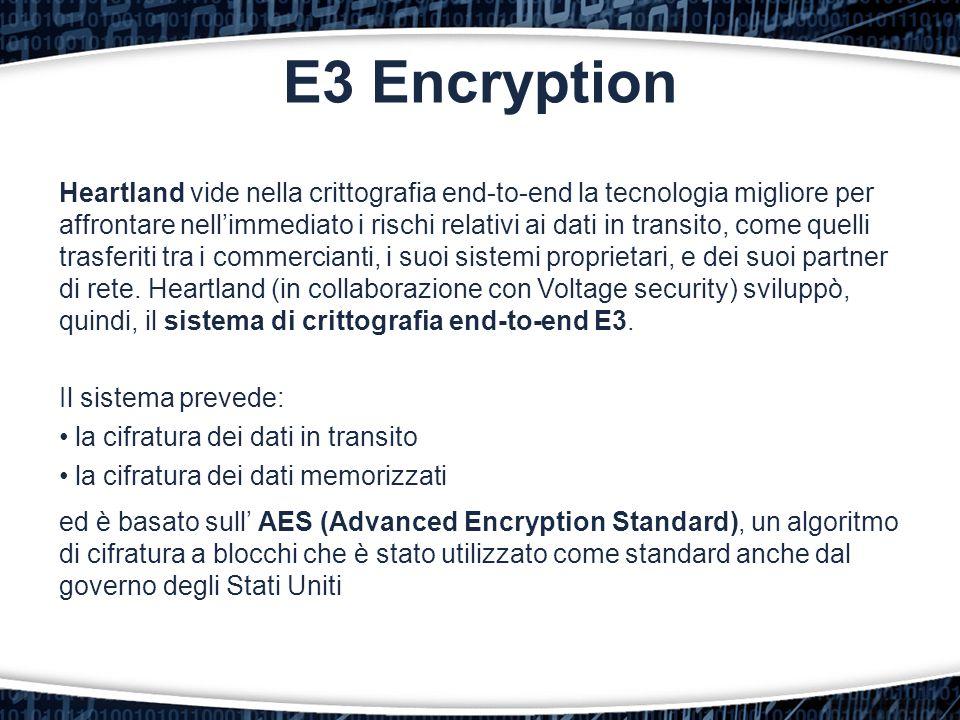 E3 Encryption Heartland vide nella crittografia end-to-end la tecnologia migliore per affrontare nell'immediato i rischi relativi ai dati in transito,
