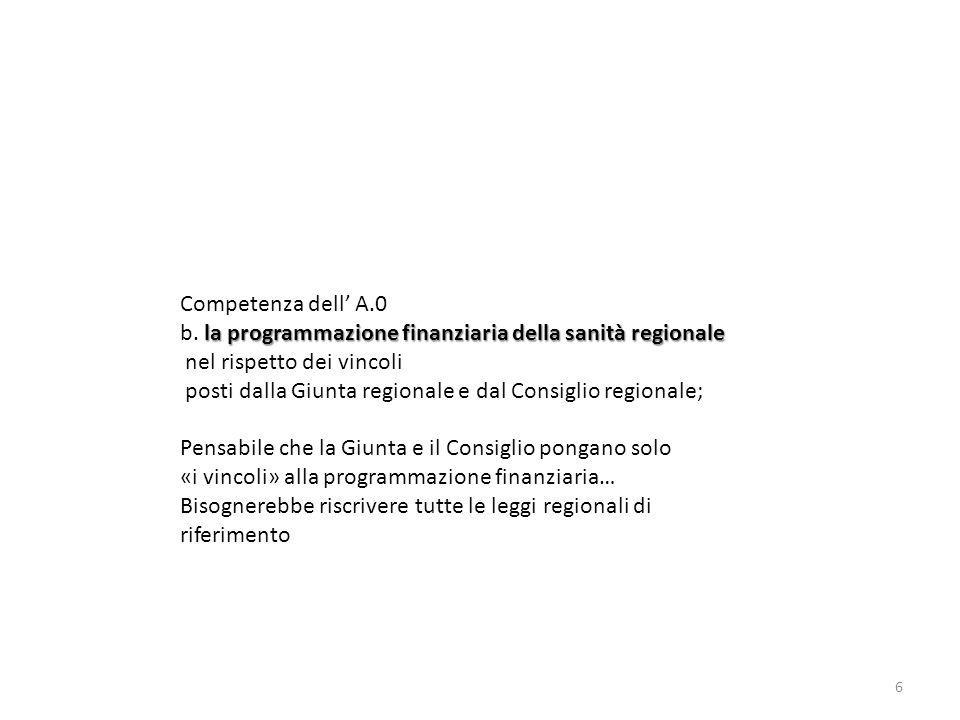 Azienda Zero e 7 Ulss e) la redazione del bilancio consolidato preventivo e consuntivo del SSR e dei relativi allegati dei relativi allegati.