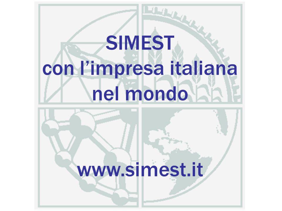 SIMEST con l'impresa italiana nel mondo www.simest.it
