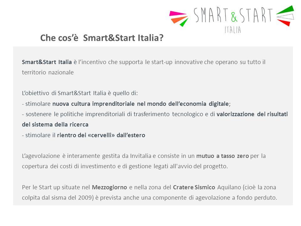 Che cos'è Smart&Start Italia.